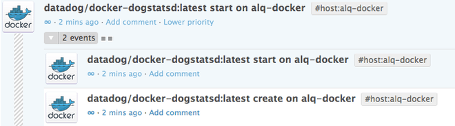 Docker events