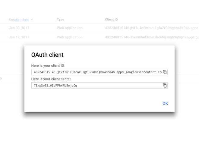 Add new OAuth authorization