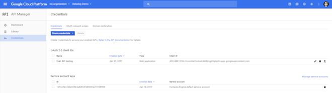 GCE metrics - Add new OAuth authorization
