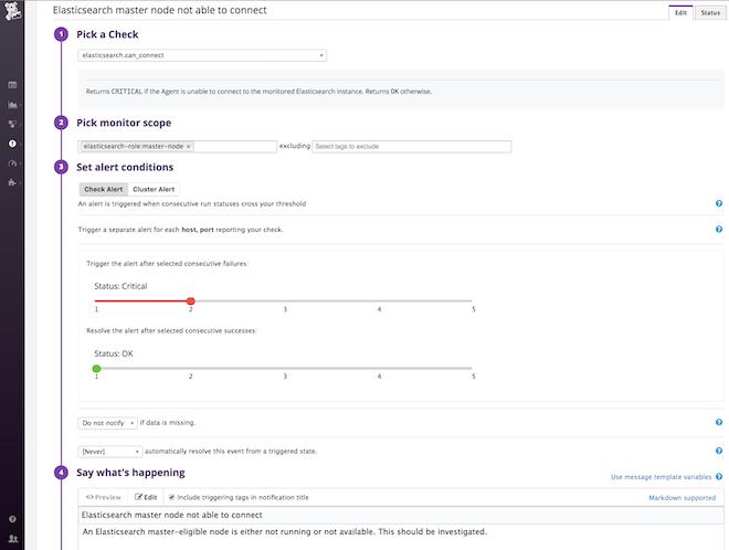 elasticsearch status check monitor