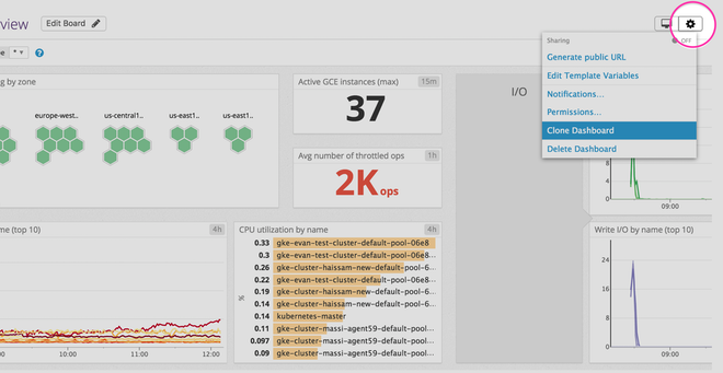 Customize the out-of-the-box dashboard by making a clone.