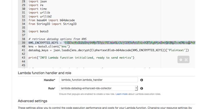 Configure Datadog Lamda blueprint