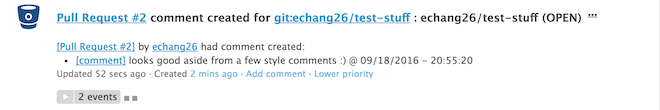 comment on bitbucket pull request